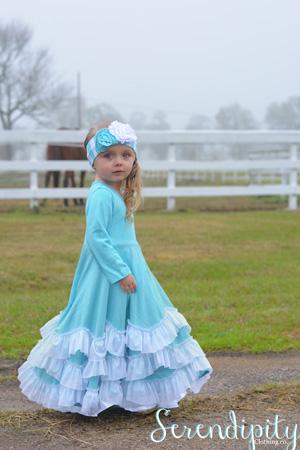 A3 Blue Twirl Dress