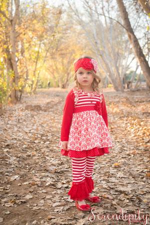 Splendid Ruffle Damask Ruffle Dress & Crochet Legging 16-30