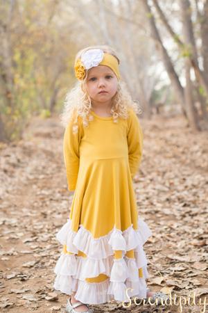 Mustard Twirl Dress