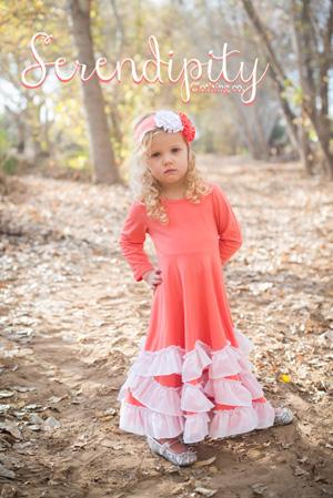 Coral Twirl Dress